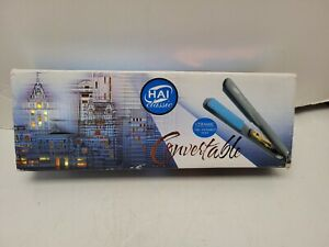 HAI Classic Convertable Ceramic Hair Straightening Flat Iron 1.25'' USED TESTED