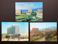 1980 Vintage ADLEL SOCHI City Soviet USSR Travel Postcards Set Beach Sea Cards