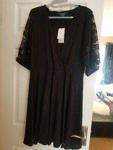 Womens black lipsy dress size 16