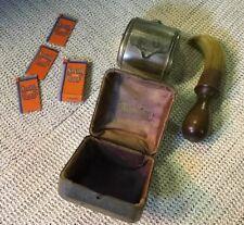Set of Original Vintage Smith Blades, Shaving Brush & Twinplex Stropper in Case