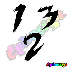 NUMERI ADESIVI MOTO AUTO Font 15 racing Numbers Decal