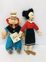 Popeye and Olive Oyl Plush Dolls Presents Hamilton Gifts Collectible Toy Vintage
