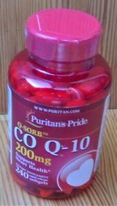 Puritan's Pride Q-SORB Co Q-10 200 mg - 240 Rapid Release Softgels Heart Health