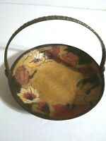 Brass Enameled Basket Small Made In India