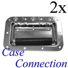 2x Einbau Klappgriff - mittel - gefedert - Stahl # Casegriff # Sprung Handle