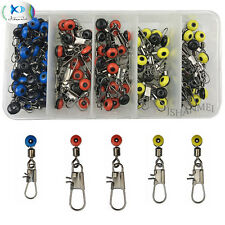 100pcs Fishing Line Sinker Slides Set Hook Shank Clip Connector Swivels  Snaps