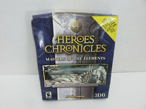 HEROES CHRONICLES MASTERS OF THE ELEMENTS 3DO SEALED NEW BIG BOX BOXED PC CD