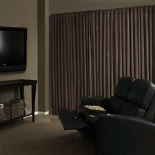 Absolute Zero Total Blackout Home Theater Drapery Curtain Panel 95-inch NEW