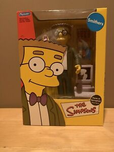 """The Simpsons Faces Of Springfield Smithers Deluxe Figure NIB 2002 9"""" Playmates"""