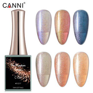 CANNI UV Nail Gel Polish THE PHANTOM SERIES Glitter Varnish Soak Off LED 16ML