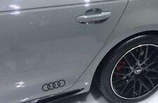 Original Audi Dekorfolie Audi Ringe brillantschwarz Aufkleber Audi Ringe (2xStk)