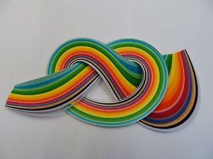 100 tiras de papel Encañonado 3mm Ancho-Perlado//Metálico Oscuro Marrón