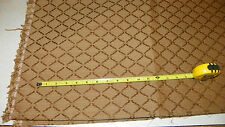 Brown Gold Victorian Print Upholstery Fabric Remnant 1 Yard  R256
