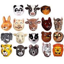 18 Animal Plastic Childrens Masks - Farm, Woodland & Wild Animals - Fancy Dress