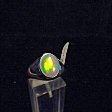 Ring, Gr.63,  Silber 925 mit einem Opal Cabochon aus Äthiopien