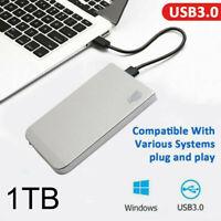 "1TB Portable External Hard Drive USB 3.0 High Speed 2.5"" HDD for One Mac Windows"