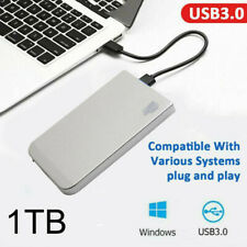 "1TB Portable External Hard Drive USB 3.0 High Speed 2.5"" HDD for One Mac Windows"