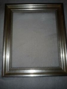 """GORGEOUS VINTAGE SOLID WOOD CARVED ORNATE silver FRAME HOLDS 8.5""""x 10.5"""" picture"""