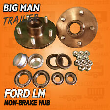 2 x Trailer Hubs Ford 5 Stud Wheel Holden LM Bearings Kits FH150