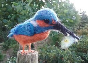 Needle felting kit Kingfisher British Wool
