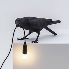 SELETTI BIRD LAMP - BLACK PLAYING - BRAND NEW WITH ORIGINAL PACKAGING