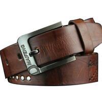 Classic Men's Leather Belt Casual Pin Buckle Waist Belt Waistband Belts Strap Y3