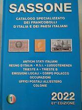 2022 Catalogo Sassone 1 ASI Regno RSI Trieste A e B Occupazioni Colonie,,,,,