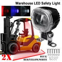 2x 20W LED Muletto Camion Blu Allarme Lampada Sicurezza Lavoro Pois Luce Kit