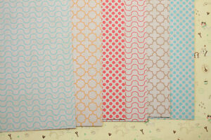 Krafty Patterns scrapbooking paper colorful design craft 250gsm fancy cardstock
