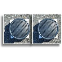 """3.5"""" Motorcycle Boat Spa Hot Tub Golf Cart Marine Speakers VX-S35GX Charcoal Gry"""