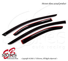 Smoke Tinted Out-Channel Vent Visor Deflector 4pcs For 2009-2014 Acura TSX