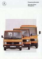 Mercedes Transporter Prospekt 6/90 1990 Broschüre Lkw truck brochure broschyr