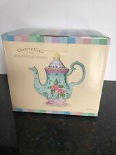 Charter Club Home Grand Buffet Sweet Time Hand painted Ceramic Coffee Pot Tea