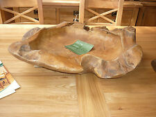 LARGE TEAK ROOT FRUIT & SALAD BOWL  HAND CRAFTED LARGE AT002E