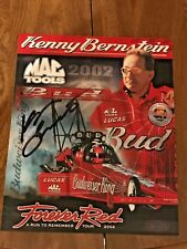 KENNY BERNSTEIN 2002 Bud FOREVER RED NHRA Top Fuel Souvenir Card Real Autograph