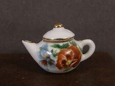CHINA  PORCELAIN TEA POT ~  Dollhouse ~ England ~ Marked ~ 1:12 scale ~ Room Box