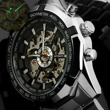 Winner Luxury Men's Automatic Mechanical Watch Stainless Steel Band Wristwatch