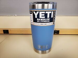 YETI Rambler 20oz Vacuum Insulated Tumbler w/ Magslider Lid Pacific Blue New