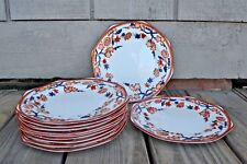 Wedgewood China Tea Plates set of 11 Crescent Pattern signed & Numbered C3600