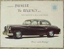 DAIMLER REGENCY Mk II Car Sales Brochure c1950 #R27/010/169