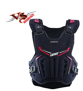 LEATT CHEST PROTECTOR 3DF AIRFIT BLACK/RED ADULT Motocross SOFT SHELL ARMOUR