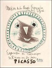 Pablo Picasso Lithograph Exposition Ceramiques Les Affiches First Edition 1959
