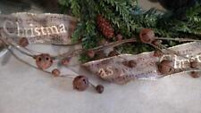 "NWT 48"" Rusty Jingle Bell  Christmas Swag GARLAND Rustic Cabin Country Decor"
