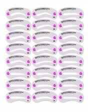 24 Eyebrow Stencils Shaping Grooming Brow Make Up Set Template Reusable Design