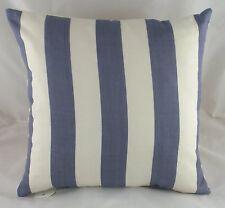 Evans Maritime Nautical Blue Denim Striped Cushion