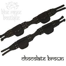 Leather Utility Pocket Hip Pouch Belt Steampunk Festival Soft Dark Brown #4-3