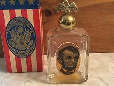 Avon Abraham Lincoln Leather After Shave Empty Presidential Decanters Orig Box