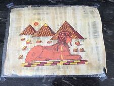 """New! Authentic Large Papyrus Egyptian Paper - Sphinx & 3 Pyramids 17"""" x 13"""""""