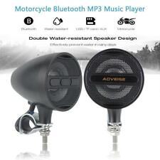 """7/8""""-1.25"""" Handlebar Clamp Motorcycle Speaker Waterproof Bluetooth MP3 Stereo"""