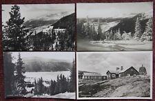1931 4x Jamtland & Are Vintage Photographic Postcard Sweden Sverige